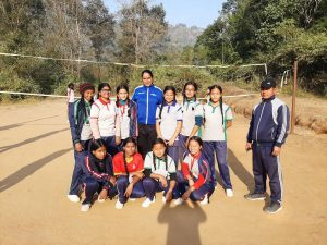 Women Empowerment with volleyball in rural areas of Nepal