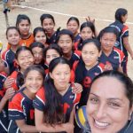 Kopila Upreti training volleyball young women Nepal